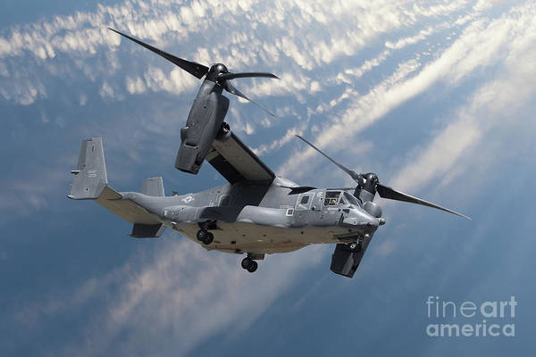 Flyby Photograph - Bell Boeing Osprey V-22 Helicopter Close Up View Flying by Simon Bratt Photography LRPS