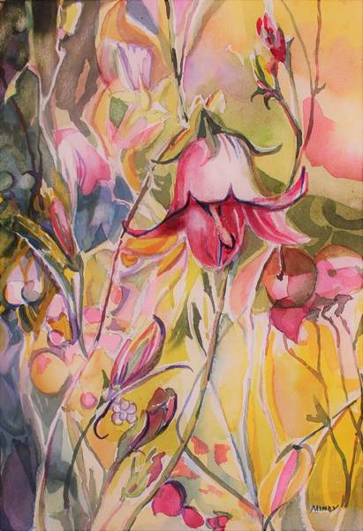 Wall Art - Painting - Bell Flower by Mindy Newman