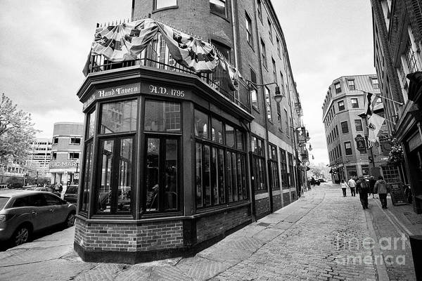 Wall Art - Photograph - bell in hand tavern pub and marshall street Boston USA by Joe Fox