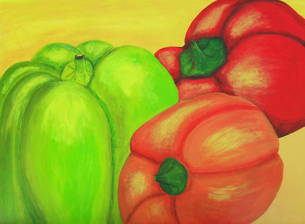 Painting - Bell Peppers by M Valeriano