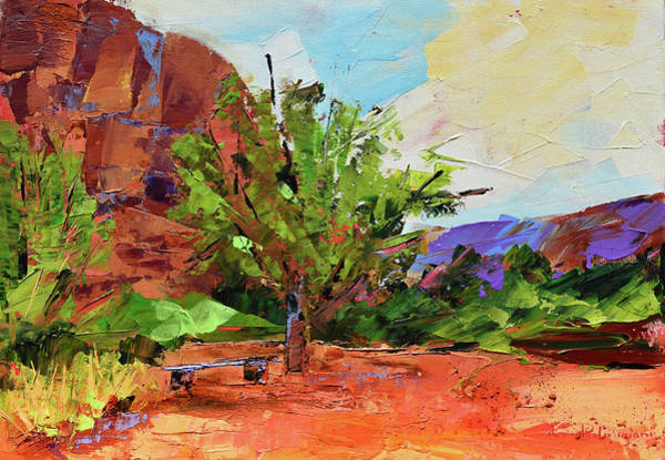 Butte Painting - Sedona Pathway  by Elise Palmigiani