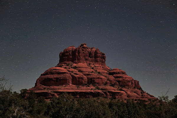 Wall Art - Photograph - Bell Rock With Stars by Donna Kennedy