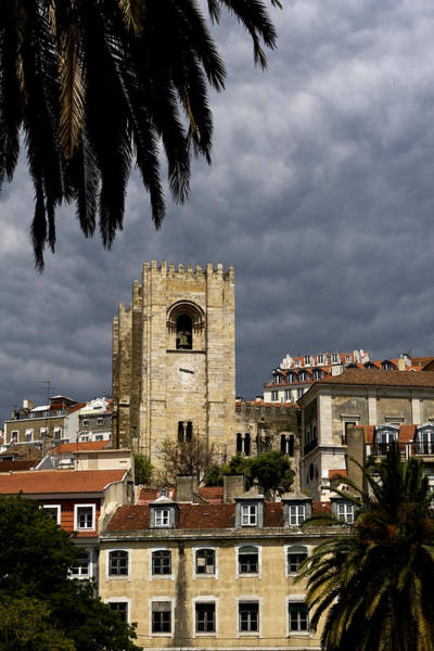 Photograph - Bell Tower Against Roiling Sky by Lorraine Devon Wilke