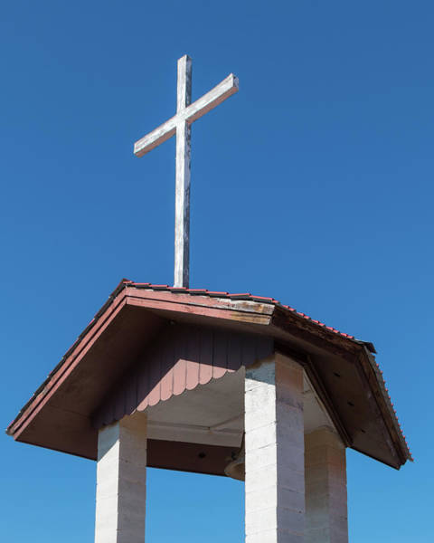 Photograph - Bell Tower And Cross by SR Green