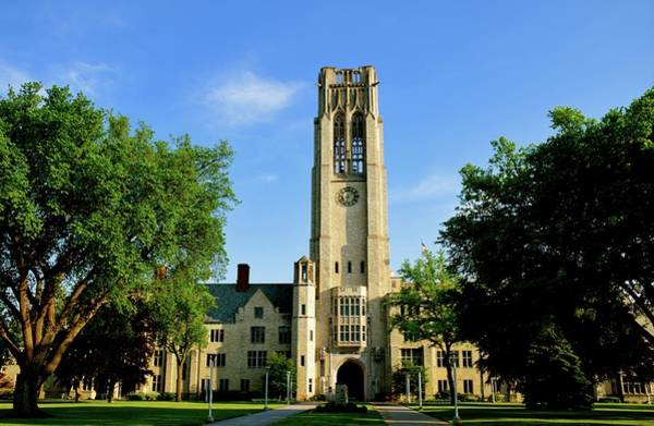 Photograph - Bell Tower At The University Of Toledo by Jenny Regan