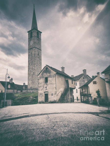 Photograph - Bell Tower In Italian Village by Silvia Ganora