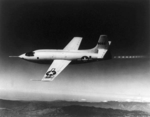Rockets Wall Art - Photograph - Bell X-1 Rocket Plane In Which Chuck by Everett