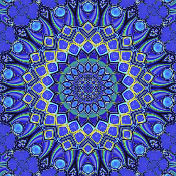 Digital Art - Bella - Blue by Wendy J St Christopher