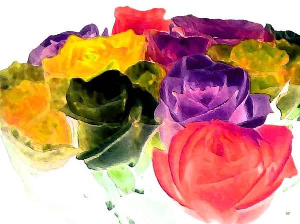 Purple Rose Digital Art - Bella Flora 6 by Will Borden
