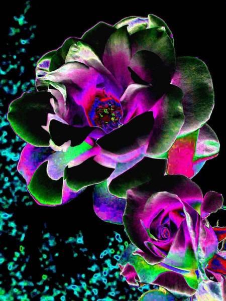 Purple Rose Digital Art - Bella Flora 8 by Will Borden