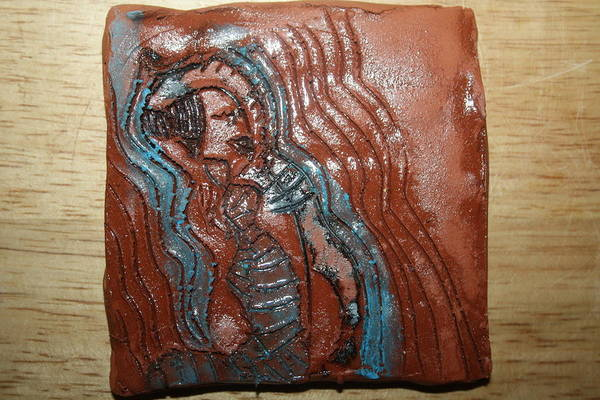 Ceramic Art - Bella -tile by Gloria Ssali