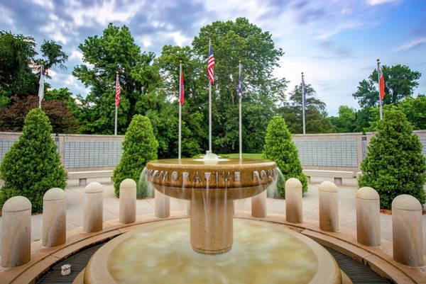Commemorative Wall Art - Photograph - Bella Vista Veteran War Memorial - Northwest Arkansas by Gregory Ballos
