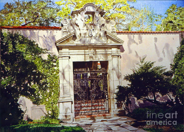 Spanish Missions Wall Art - Painting - Bellagio Gate by David Lloyd Glover