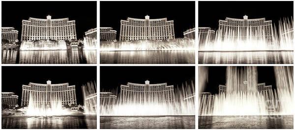 Photograph - Bellagio Las Vegas Fountain Dance Collage by John Rizzuto