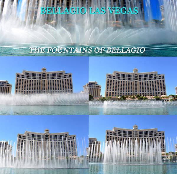 Wall Art - Photograph - Bellagio Las Vegas Fountains Poster by David Lee Thompson