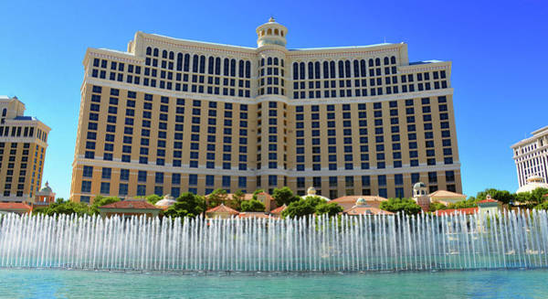 Wall Art - Photograph - Bellagio Panoramic With Fountains by David Lee Thompson