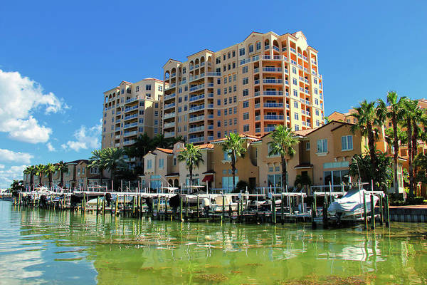 Photograph - Belle Harbor Condos Clearwater Florida by Ola Allen