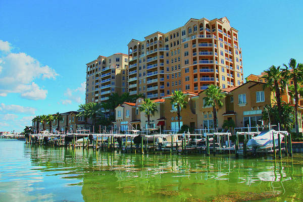 Photograph - Belle Harbor Condos In Clearwater Florida by Ola Allen