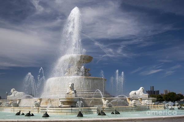 Belle Isle Scott Fountain Art Print