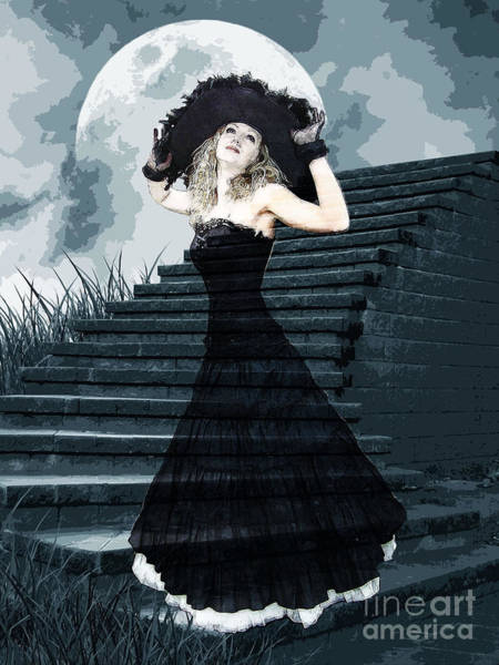 She Mixed Media - Belle Of The Full Moon Ball by Tammera Malicki-Wong