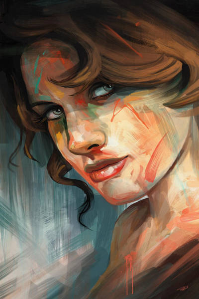 Digital Art - Belle by Steve Goad