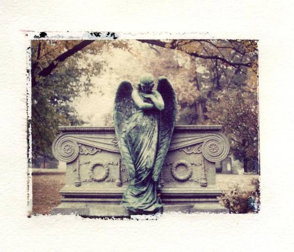 Linder Wall Art - Photograph - Bellefontaine Angel Polaroid Transfer by Jane Linders