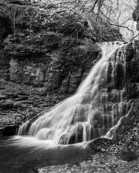 Northumbria Photograph - Bellingham Hareshaw Linn Bw by David Taylor