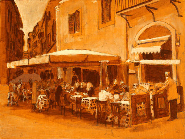 Dining Al Fresco Painting - Bellisima by David Zimmerman