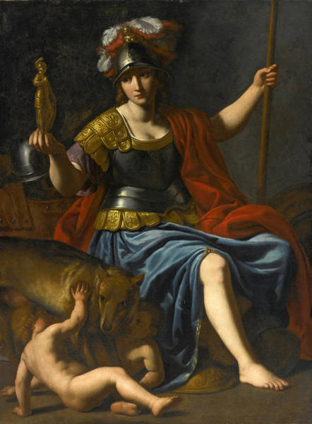 Romulus And Remus Painting - Bellona With Romulus And Remus by Alessandro Turchi