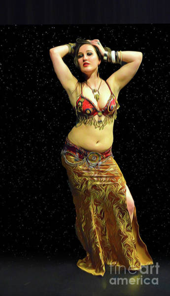 Photograph - Belly Dance Performance by Vivian Martin