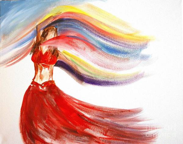 Belly Dance Painting - Belly Dancer 2 by Julie Lueders
