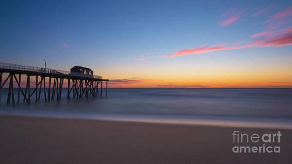 Wall Art - Photograph - Belmar Fishing Pier Sunrise by Michael Ver Sprill