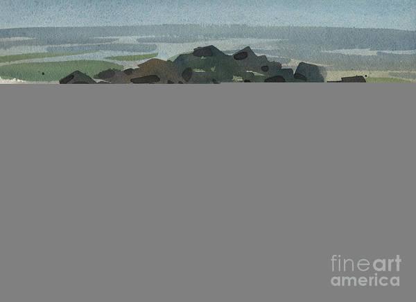 Jetty Painting - Belmar Jetty by Donald Maier