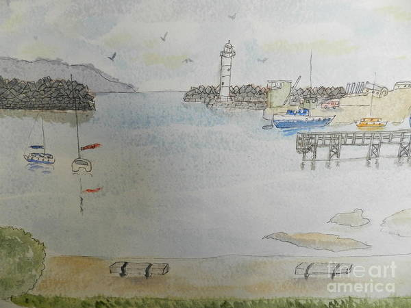 Wall Art - Painting - Belmore Basin In Wollongong by Pamela Meredith