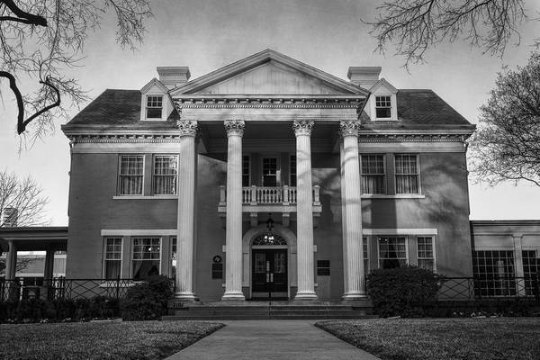 Photograph - Belo Mansion Dallas Bw by Joan Carroll
