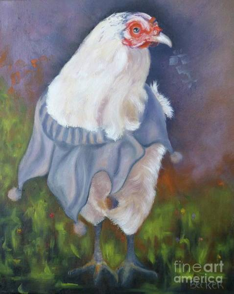 Wall Art - Painting - Beloved Chicken by Susan A Becker