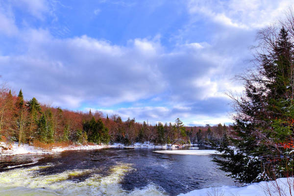 Photograph - Below The Dam In Winter by David Patterson