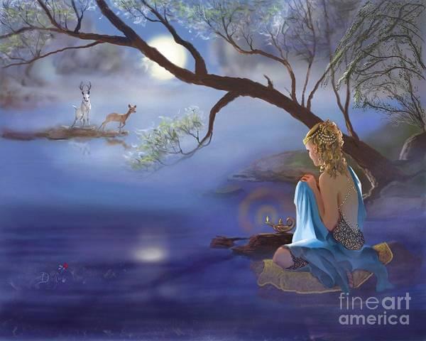 Genie Painting - Beltane by Diane Rose Medlin