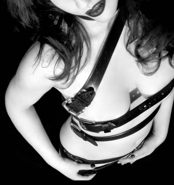 Erotic Photograph - Belted 1 - Self Portrait by Jaeda DeWalt