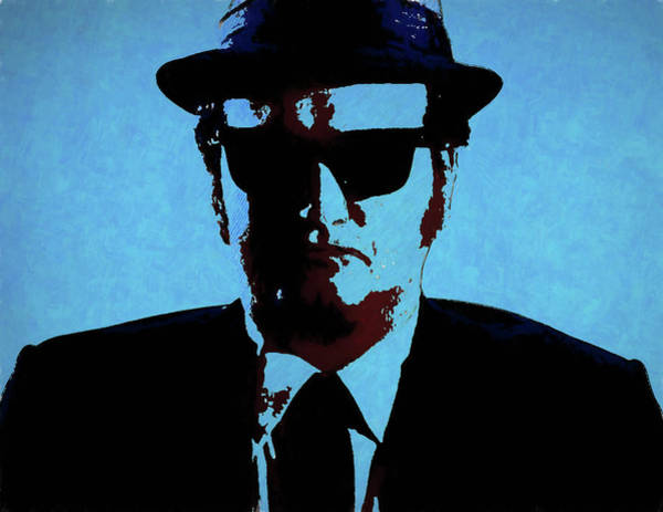 Wall Art - Mixed Media - Belushi Blues Brothers by Dan Sproul