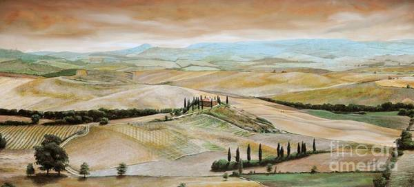 Moor Painting - Belvedere - Tuscany by Trevor Neal