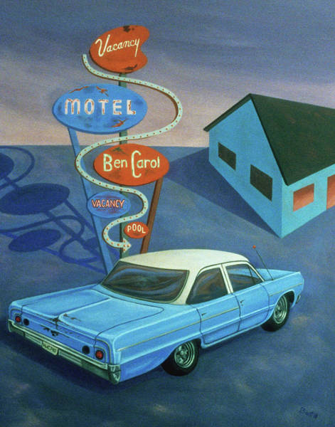Painting - Ben Carol Motel by Sally Banfill