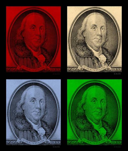 Portriat Photograph - Ben Franklin In Colors by Rob Hans