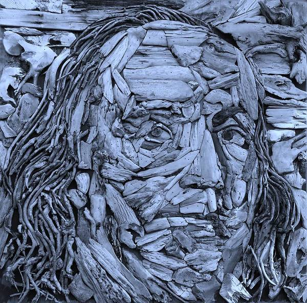 Photograph - Ben In Wood Cyan by Rob Hans