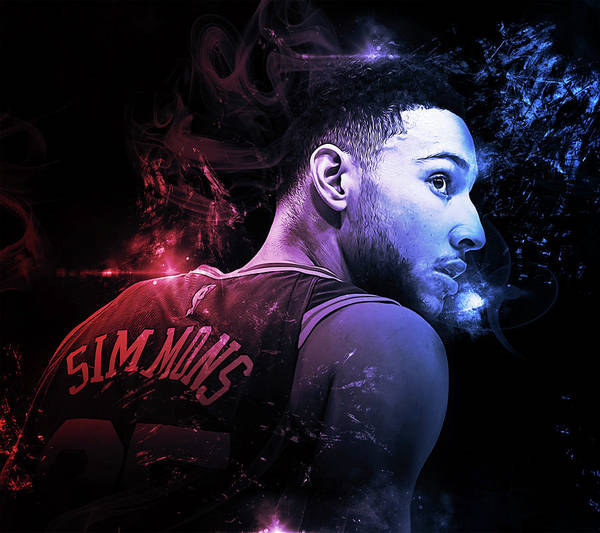 76ers Painting - Ben Simmons - 03  by Andrea Mazzocchetti