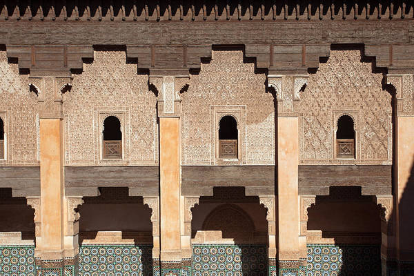 Photograph - Ben Youssef Madrasa, Wall In The Patio by Aivar Mikko