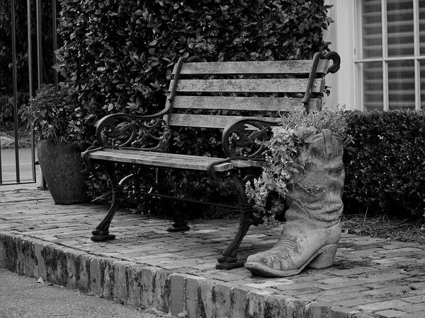 Photograph - Bench And Boot 1 by Michael Colgate