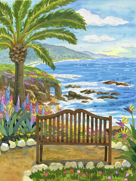 Park Bench Digital Art - Bench At The Montage by Robin Wethe Altman