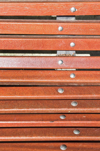 Metal Furniture Photograph - Bench Planks by Tom Gowanlock