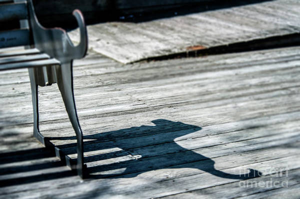 Photograph - Bench Shadow by Michael James